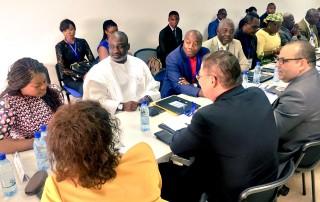 Alex Bernard BONGO ONDIMBA aux travaux du secteur de l'Economie Numérique
